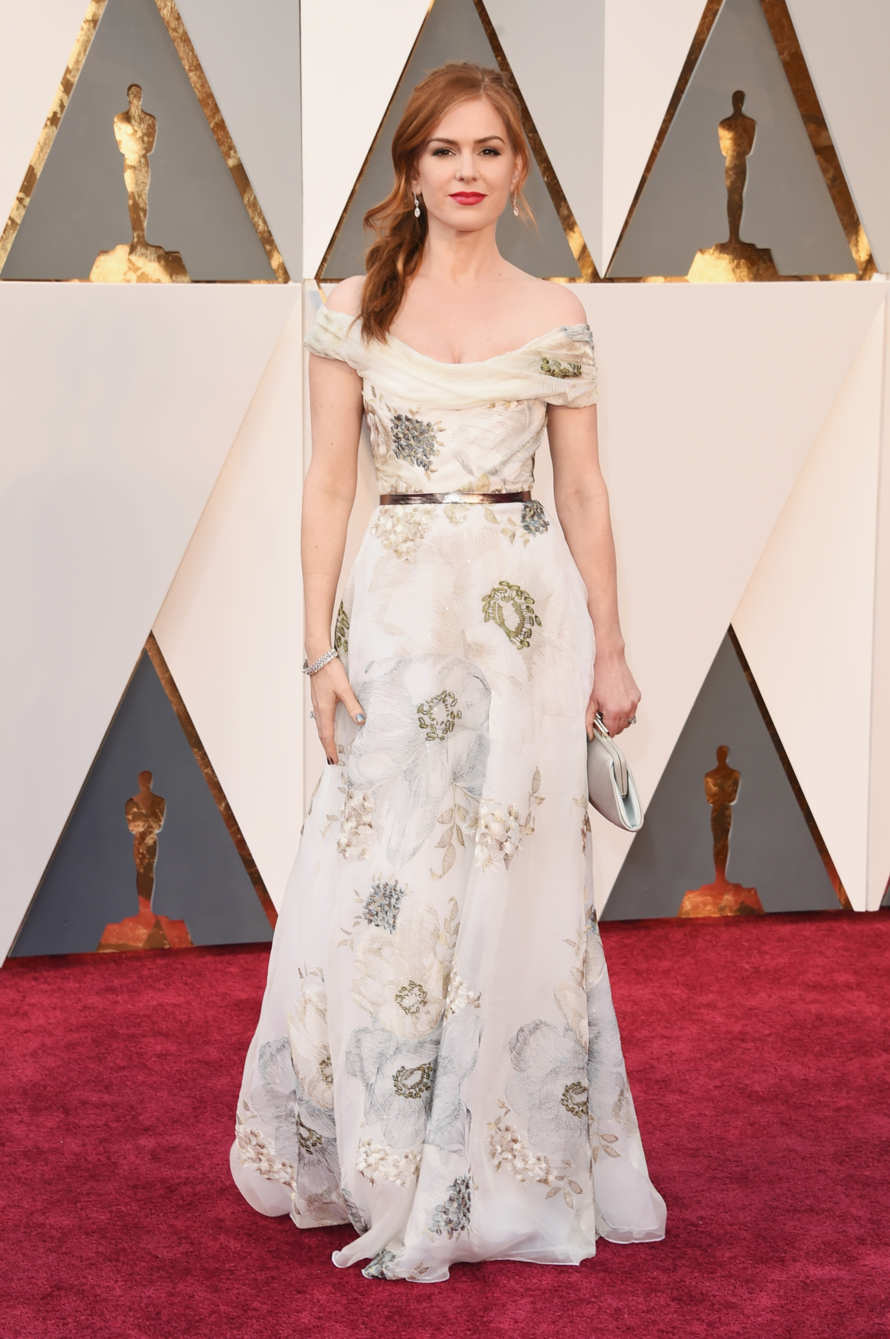 Isla Fisher in Marchesa Source: in style.com Photo: Getty Images