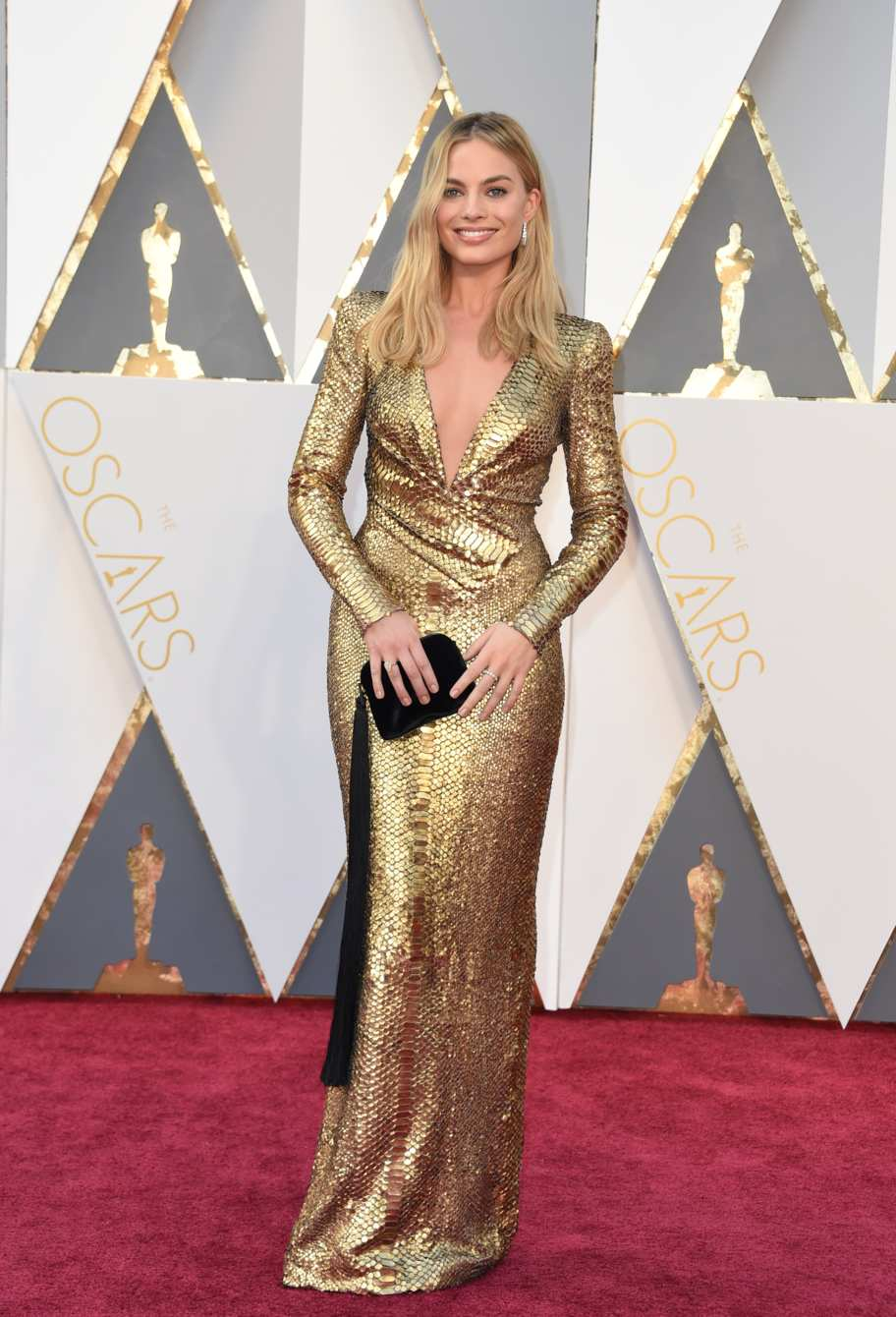 Margot Robbie in Tom Ford. Source: instyle.com Photo: Getty Images